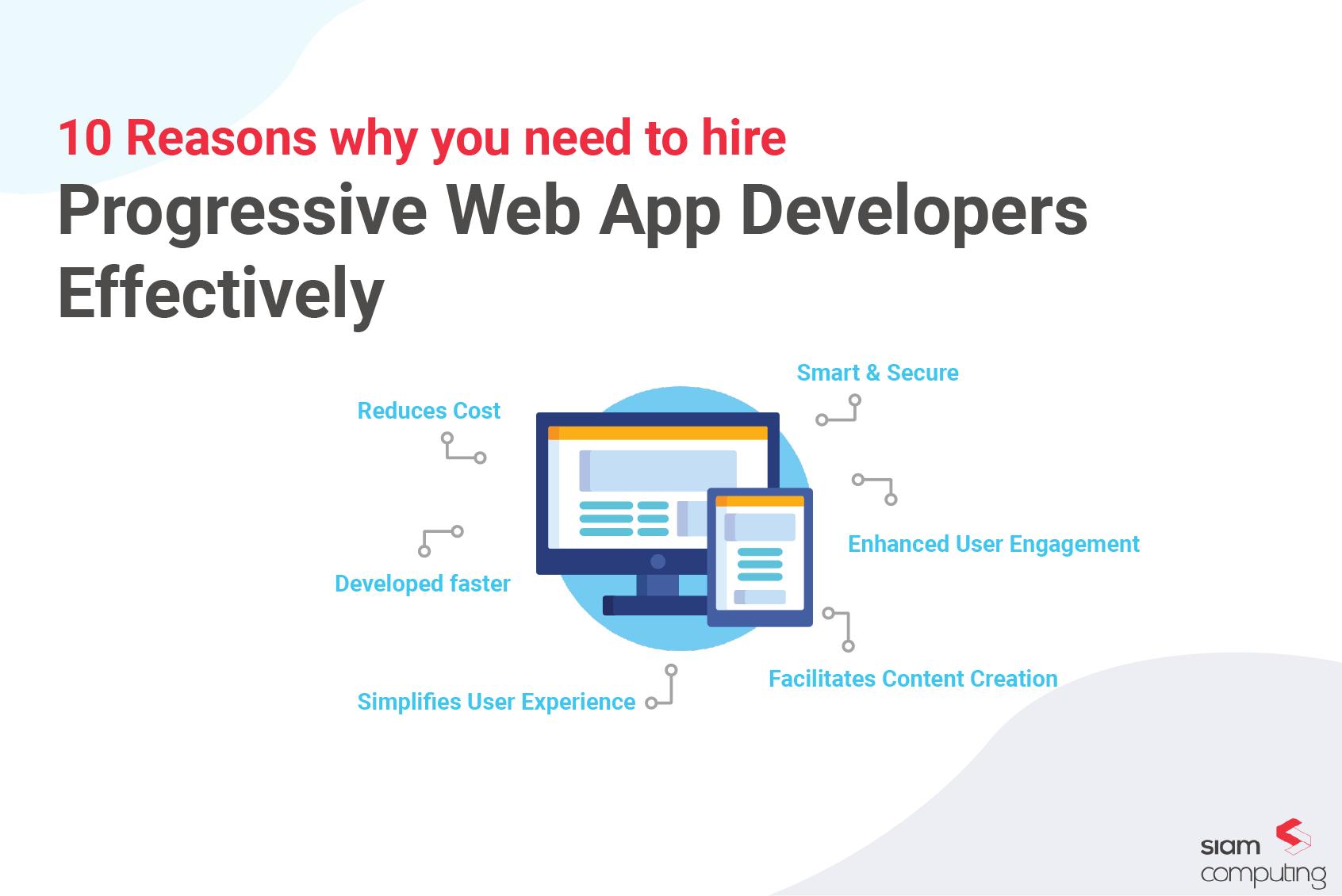 Progressive web app developers
